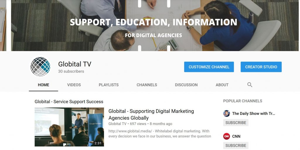 Globital's YouTube channel, Globital TV, goes live