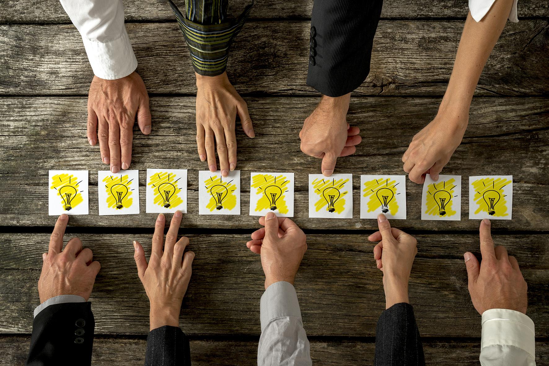 Brainstorming & teamwork concept